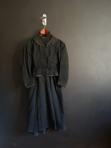 French Vintage Black Victorian ladies ensemble / walking suit