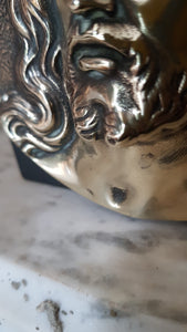 Antique bronze and stone paperweight signed A. Dubois.