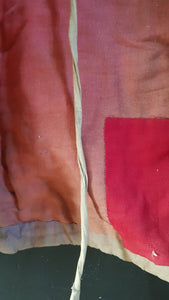 Interior detail: Antique French Chasuble gold pink red priest liturgical vestment