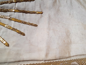 French antique pannels of a procession canopy/ appliqués / religious embroidery