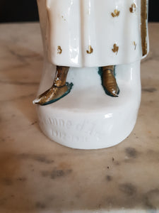 St Joan of arc porcelain figurine.
