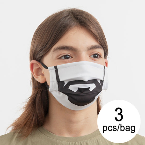 Hygienic Reusable Fabric Mask Beard Luanvi Size M (Pack of 3)