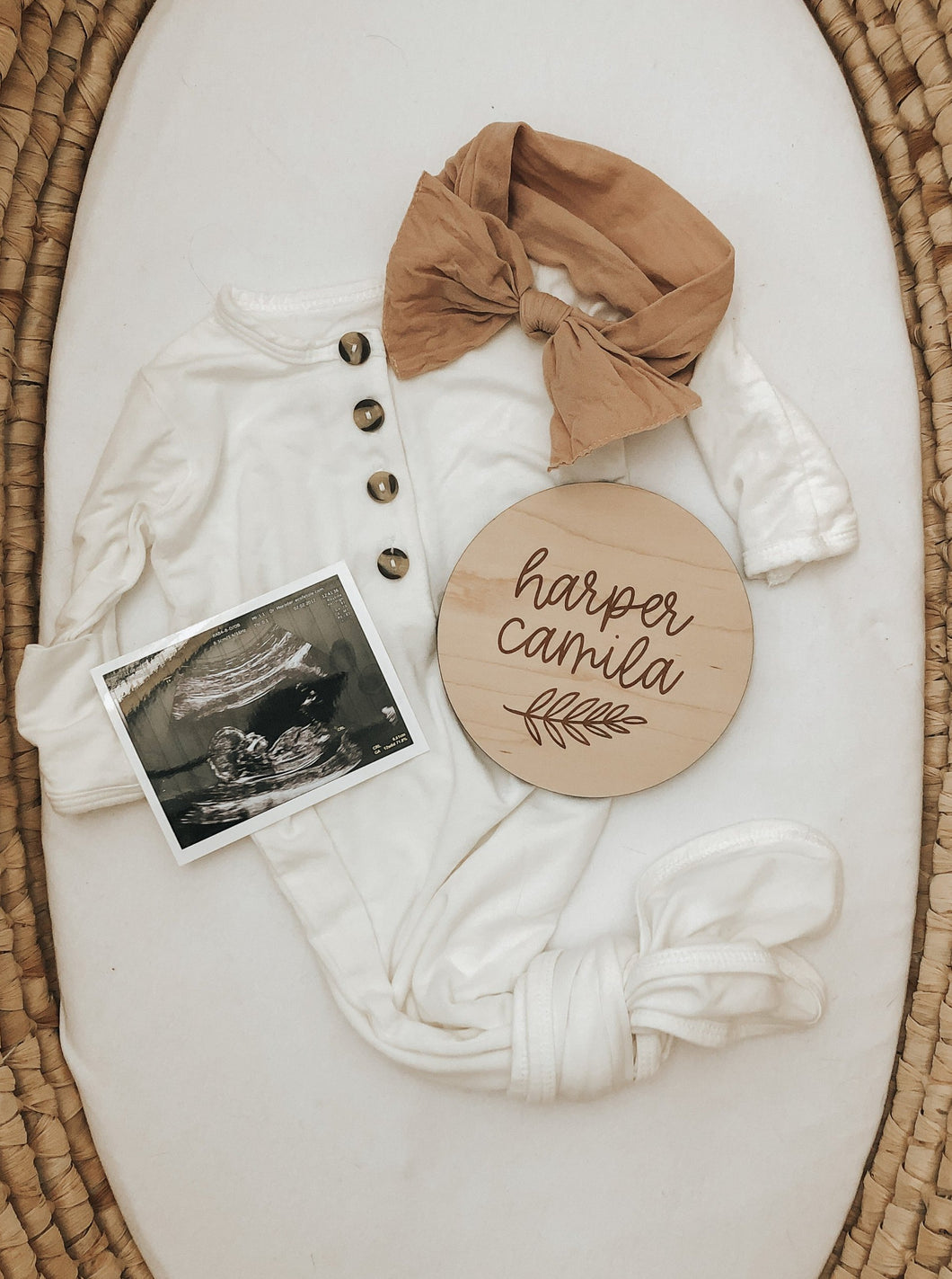 Custom Wood Birth Announcement Sign | Harper Style