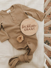 Load image into Gallery viewer, Custom Wood Birth Announcement Sign | Beckham Style