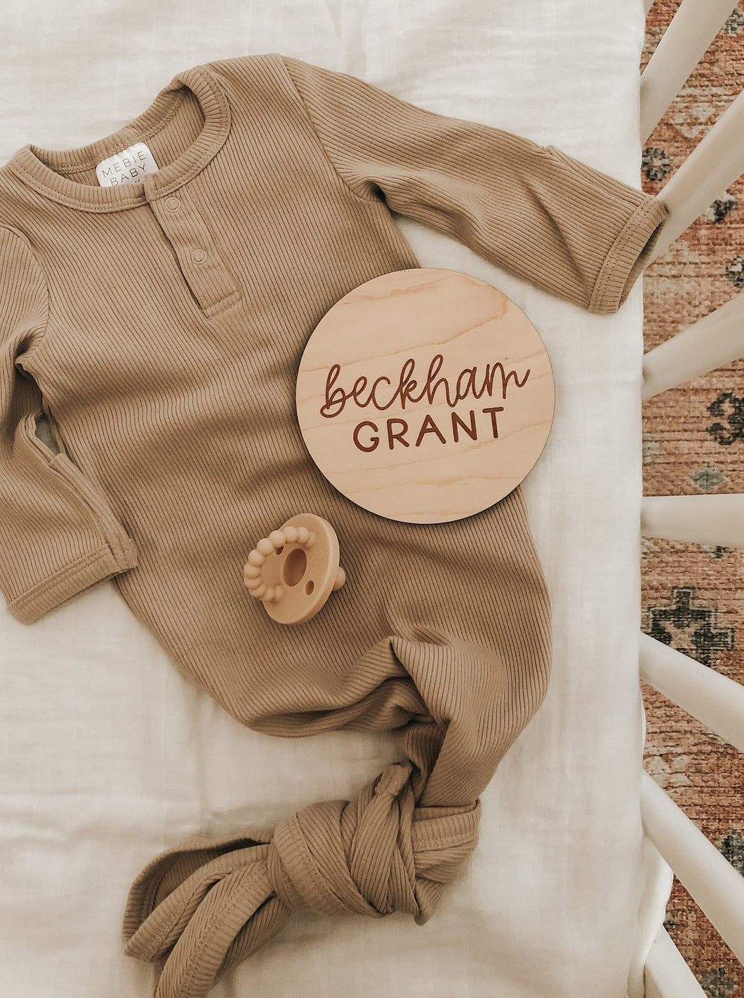 Custom Wood Birth Announcement Sign | Beckham Style