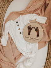 Load image into Gallery viewer, Engraved Newborn Footprint Sign