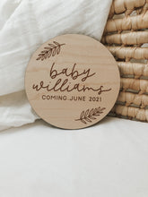 Load image into Gallery viewer, Custom Pregnancy Announcement Sign | Boho Style