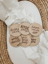 Load image into Gallery viewer, Custom Wood Birth Announcement Sign | Ashley Style