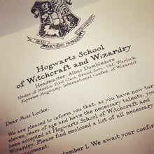 Load image into Gallery viewer, Hogwarts Acceptance Letter