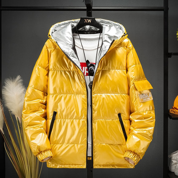 Cropped Down Parka Puffle Jacket Bubble Coat Winter 2019 Women New Fashion Short Clothing Black Red Hot Pink Yellow