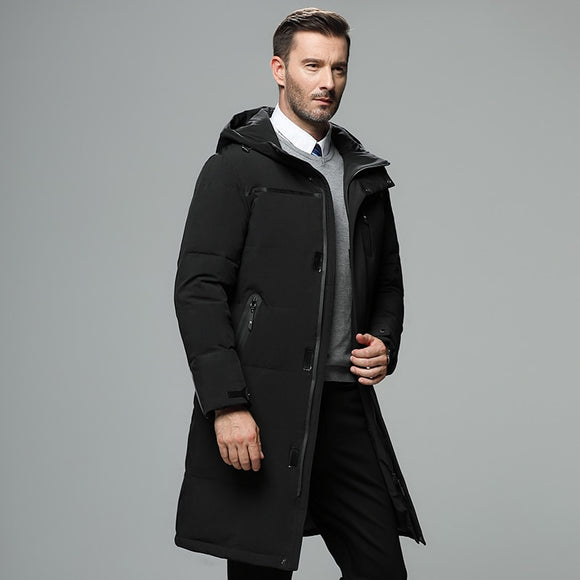 2019 Brand Men 90% White Duck Down Jacket Hood Detachable youth Casual Waterproof windproof Warm High Quality Down Men 4XL