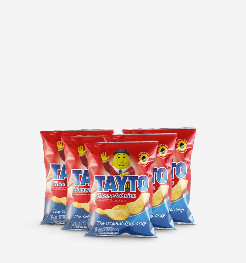 Tayto Crisps Cheese And Onion 5 x 45g