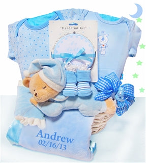 BEAR NAP TIME - BABY BOY BASKET - BabyWonderland.com