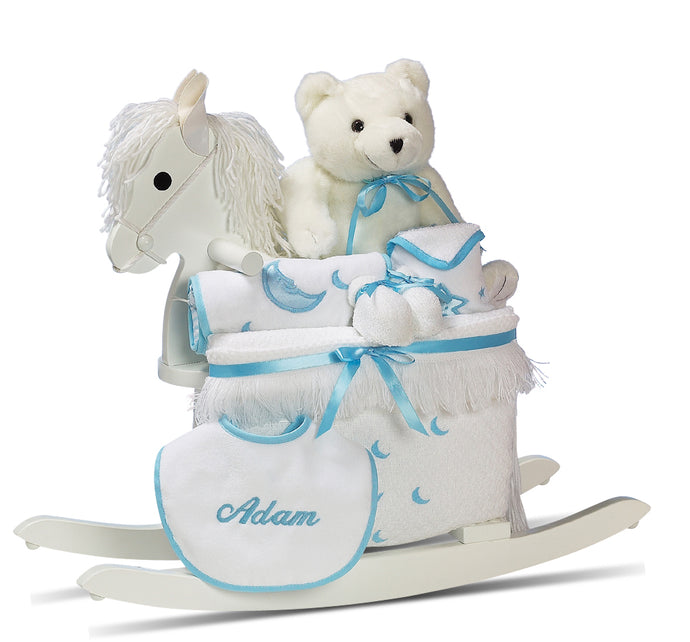 PERSONALIZED HORSE SET - BOY - BabyWonderland.com