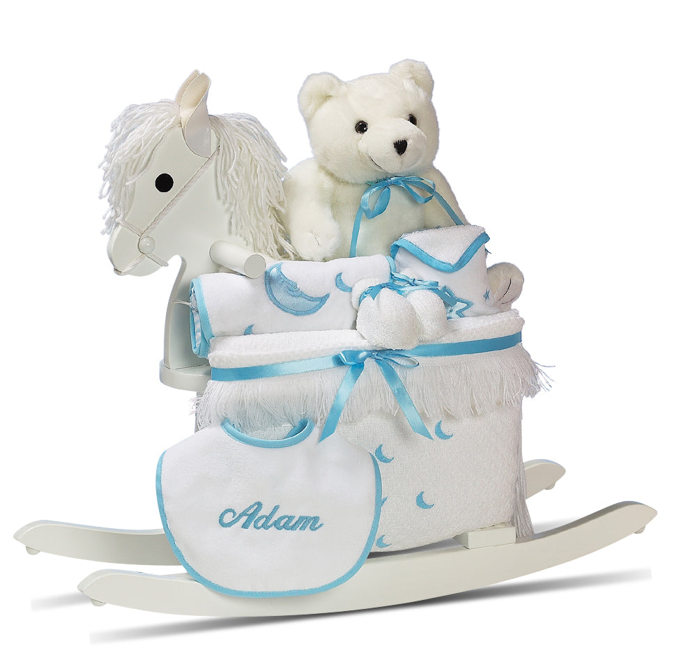 Personalized Boy Rocking Horse Set