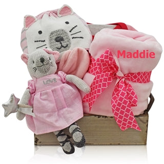 kitty baby girl basket