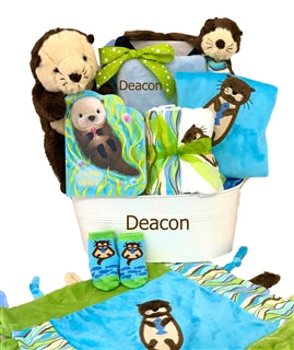 oscar the otter baby gift basket