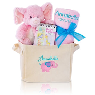 WELCOME HOME GIRL BABY GIFT TOTE - BabyWonderland.com