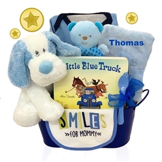 Personalized All Boy Baby Basket