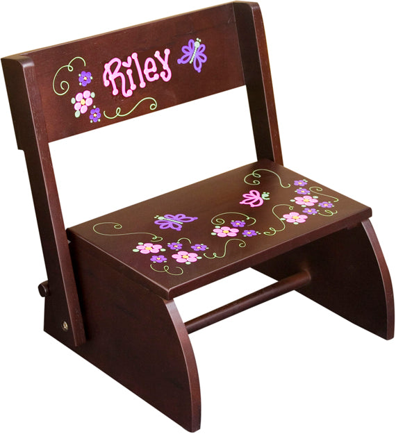 Personalized Step Stool - Espresso