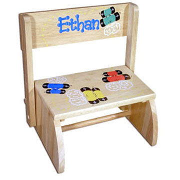 Personalized Step Stool - Natural