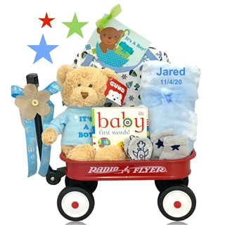 PERSONALIZED IT'S A BOY BABY GIFT WAGON - BabyWonderland.com
