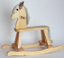 Load image into Gallery viewer, Natural Rocking Horse