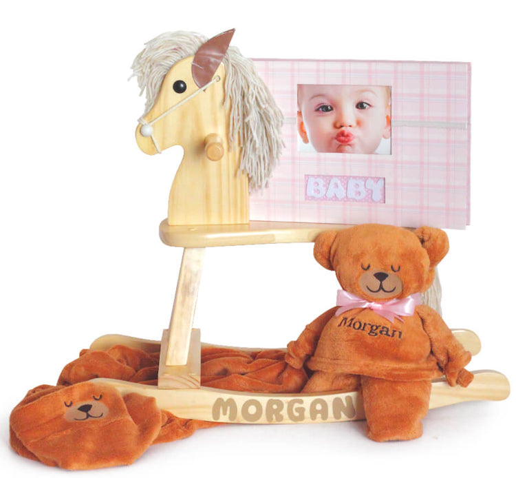 Baby Girl Keepsake Rocking Horse