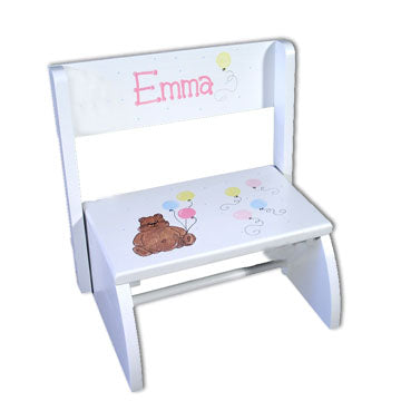 White Personalized Step Stool - BabyWonderland.com