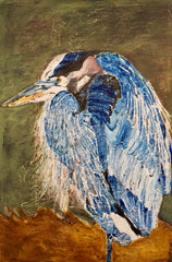 Balzac: a painting by Inverna Lockpez; Avian Expressions