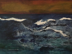 Squall: a painting by Inverna Lockpez; The Boat Run