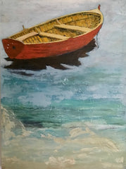 Wonder: a painting by Inverna Lockpez; The Boat Run