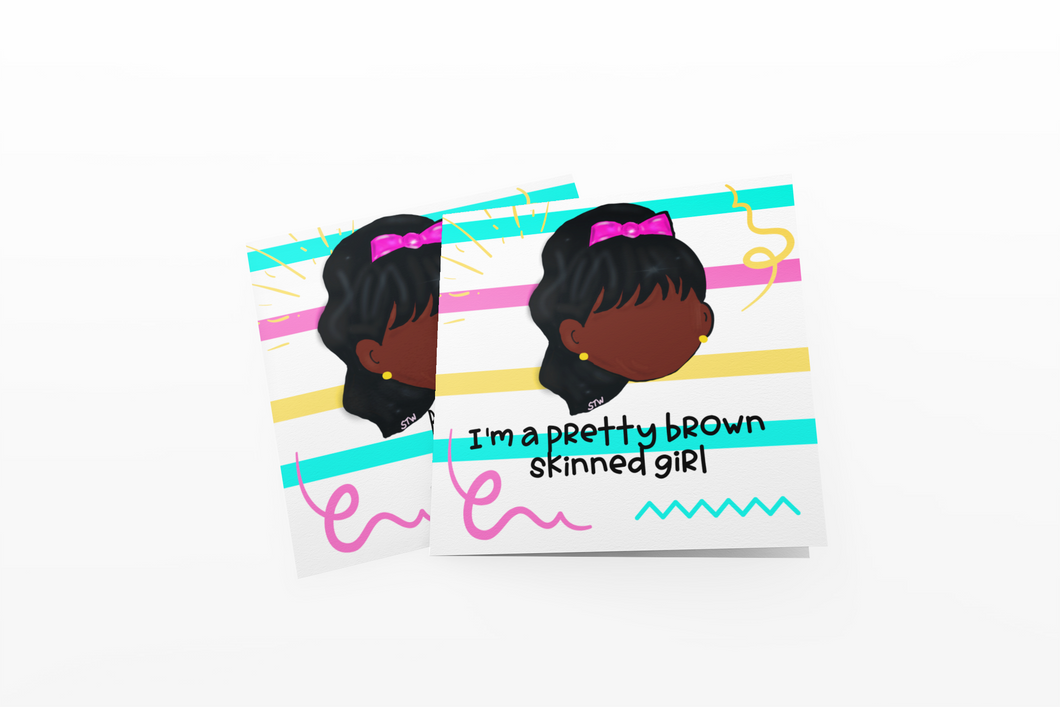 Pink Hair Bow Affirmation Cards