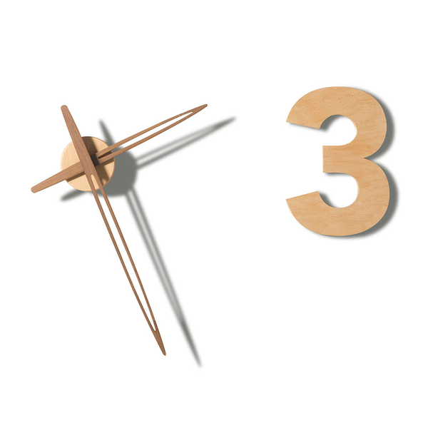 Tothora Barcelona Flower - Contemporary Wall Clock by Josep Vera - Made in Spain