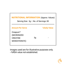 Load image into Gallery viewer, OSOAA Premium Micronized Creatine Monohydrate (Creapure®) 250gm