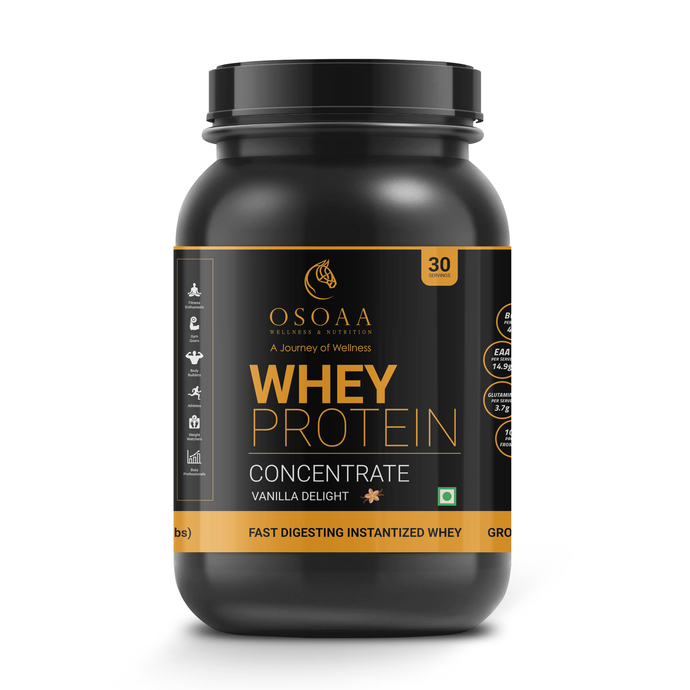 OSOAA Vanilla Delight Whey Protein Concentrate 1kg