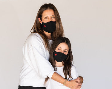 Mommy and Me Red Heart Cloth Face Coverings