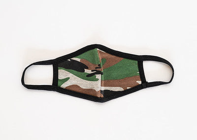 Adult Green Camo Cloth Face Cover
