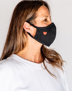 Adult Red Heart Cloth Face Cover