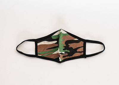 Youth Green Camo Cloth Face Covering