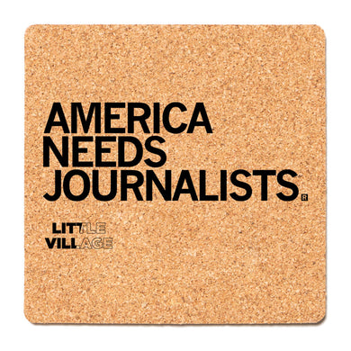 America Needs Journalists - LV Cork Coaster