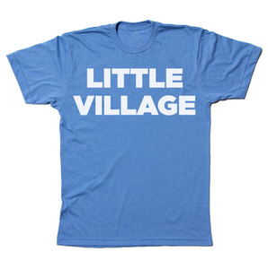 Little Village Logo Shirt - Heather Blue