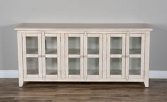 Rustic White tv Console