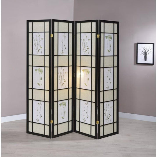 4 Panel Floral Screen room Divider