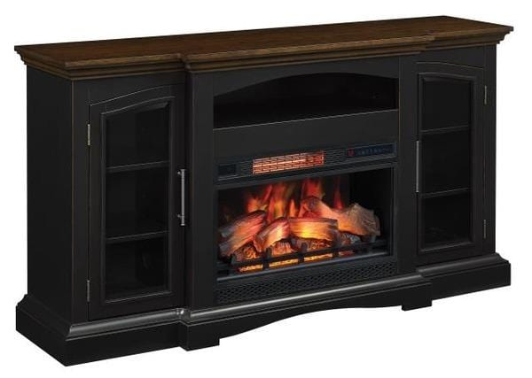 TV Stand W/Fire Place BLKBrown