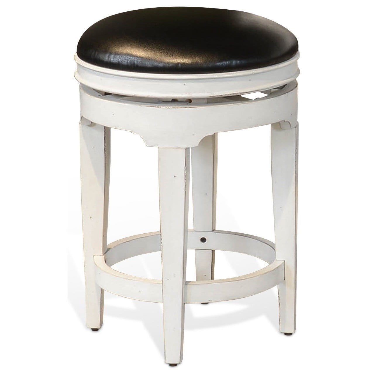 (Sun) Carriage Swivel Stool W Cushion White P22
