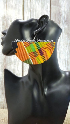 Kente Half Circle Earrings