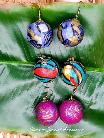 Patchwork Ball Earrings