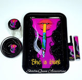 """She Is Blunt"" Rolling Tray Set"