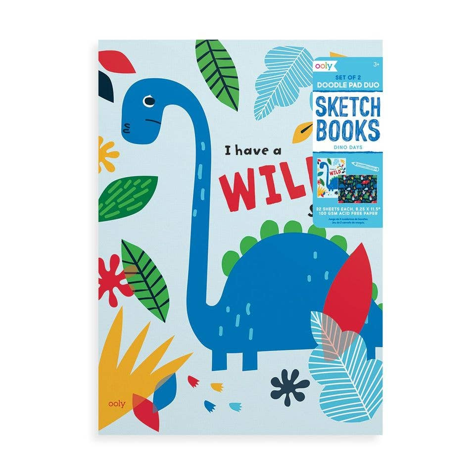 Doodle Pad Duo Sketchbooks: Dino. Days - Set of 2